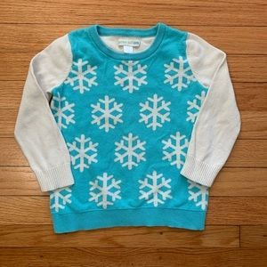 Garnet Hill Small (toddler 4/5) snowflake sweater